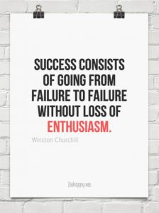success failure enthusiasm winston churchill